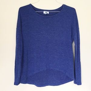Old Navy | Blue Heathered Long Sleeve T-shirt Sz S